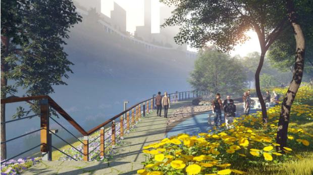 一键下载_10套三年内滨水休闲景观方案合集-[重庆]寸滩双溪河滨水绿地景观深化设计