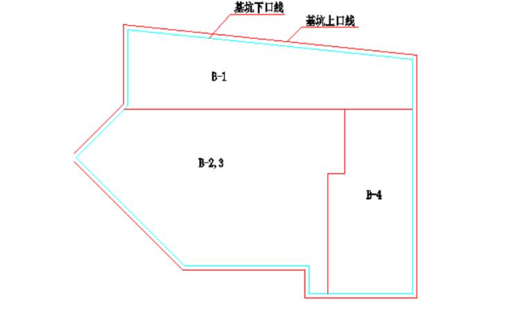 7层框架结构商业用房土方开挖施工方案-03 土方开挖平面图