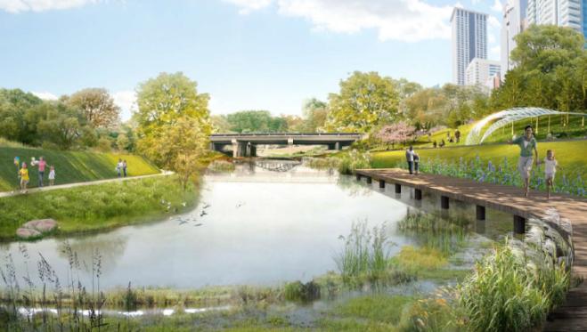 一键下载_10套三年内滨水休闲景观方案合集-[深圳]城市滨河道路自然景观概念方案
