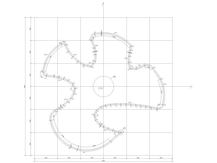 2层框架+钢桁架+网壳结构科技馆全套施工图-钢环梁构造图