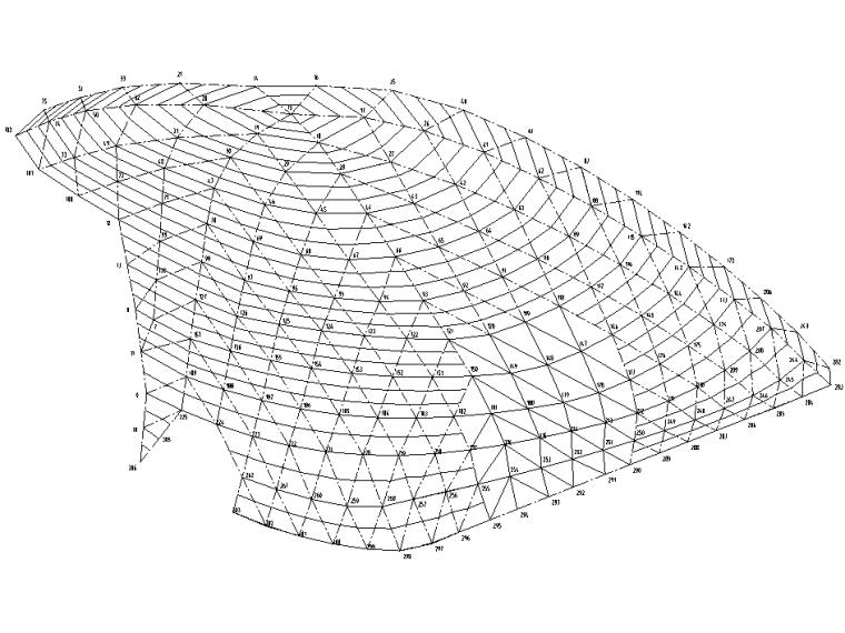 2层框架+钢桁架+网壳结构科技馆全套施工图-部分檩条布置图