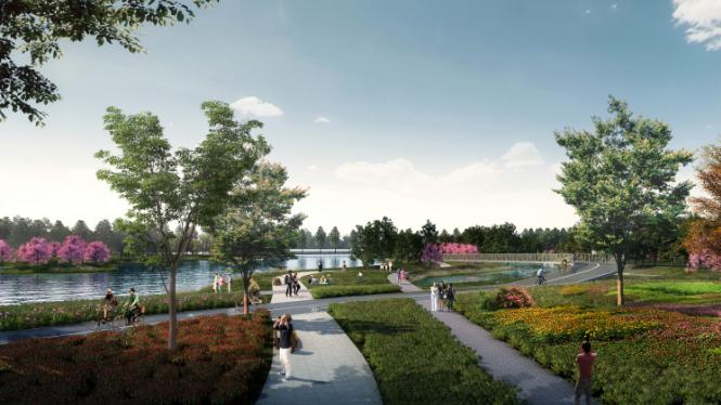 一键下载_10套三年内滨水休闲景观方案合集-湖北东湖绿道白马洲主题滨水休闲景观设计