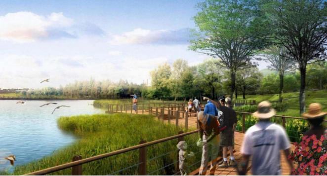 一键下载_10套三年内滨水休闲景观方案合集-[湖南]十里画廊休闲滨水河岸景观方案设计