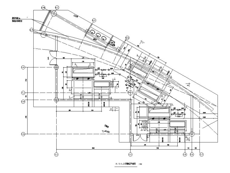 2层框架+钢桁架+网壳结构科技馆全套施工图-地下室空调机房暖气施工图