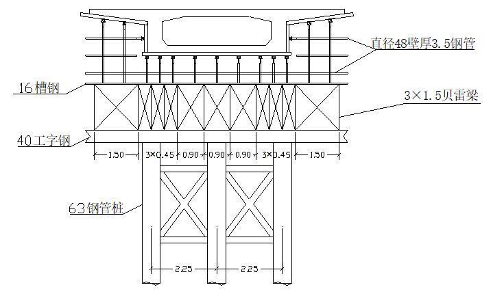 地基处理现浇箱梁支架施工工艺-施工立面图