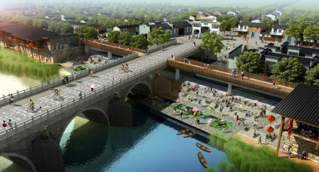 一键下载_10套三年内滨水休闲景观方案合集-[江西]抚河东岸滨水河道街区景观设计方案