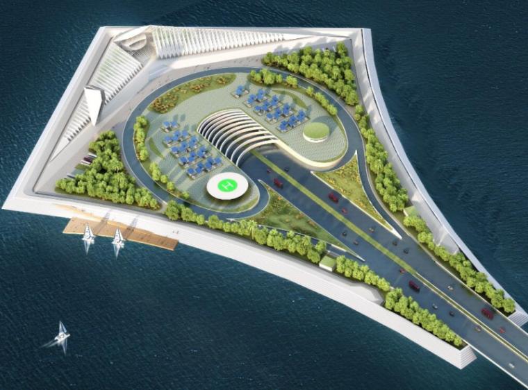 深中通道工程方案及技术创新概述-风筝型岛形轮廓