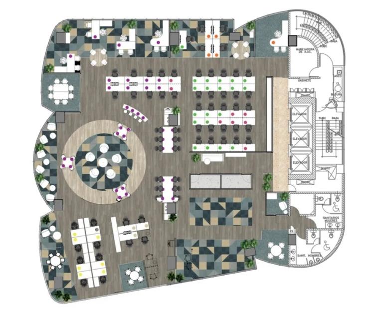 剑桥大学出版社墨西哥城办公室平面图 (1)