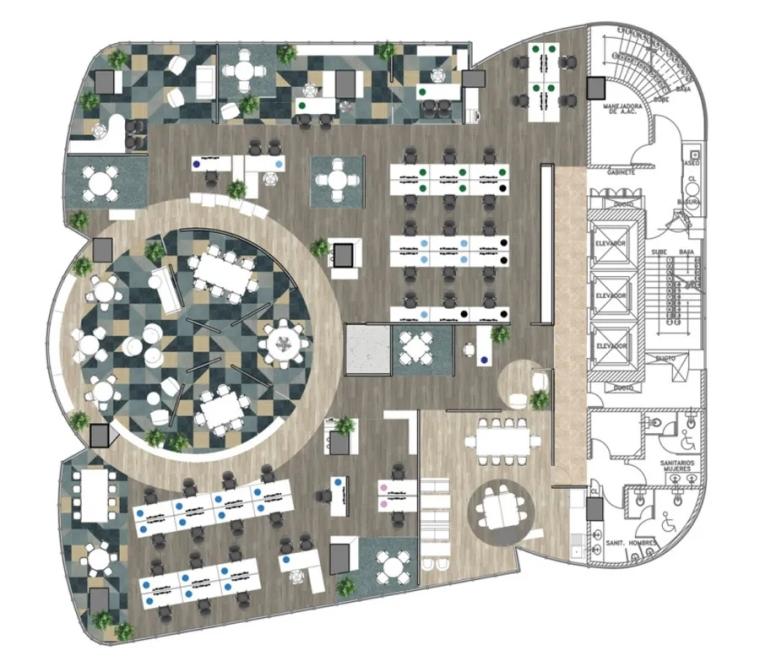 剑桥大学出版社墨西哥城办公室平面图 (2)