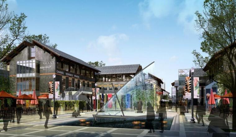[河北]四时田园休闲康养小镇景观概念规划-商业休闲区