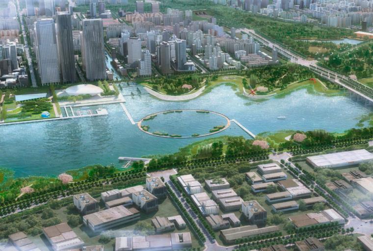 [江西]南昌城市生态湖泊公园景观设计方案-滨湖公园景观效果图