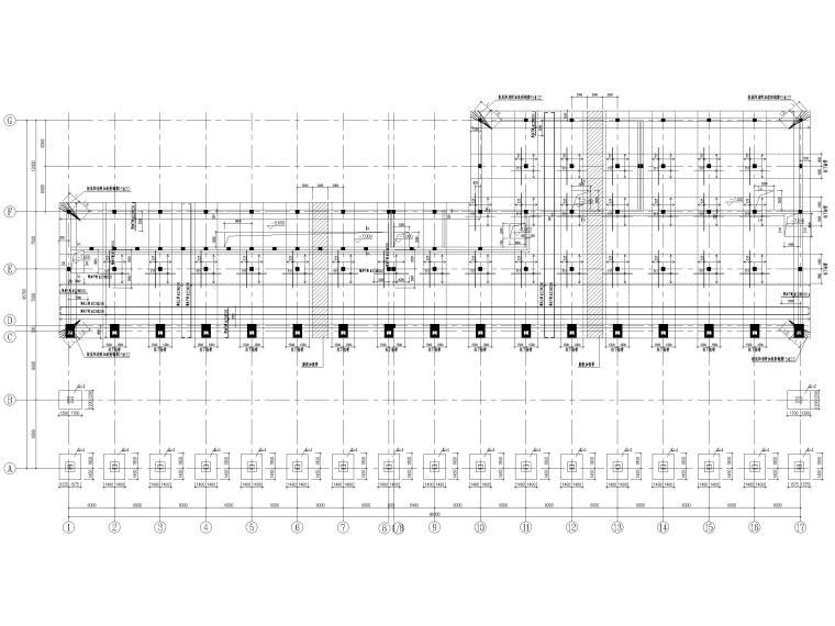[山东]门式刚架_框架结构能源中心全套2017-基础底板配筋平面布置图