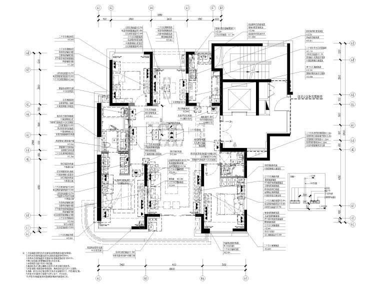 [上海]142㎡现代三居室家装样板间施工图-配电分布图
