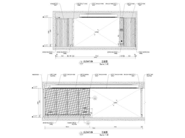 [上海]142㎡现代三居室家装样板间施工图-样板间立面图2
