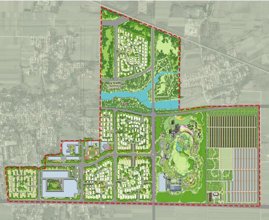 [河北]四时田园休闲康养小镇景观概念规划-总平面图