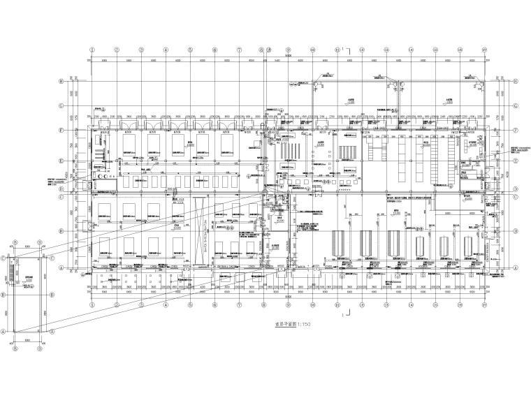 [山东]门式刚架_框架结构能源中心全套2017-首层建筑平面图