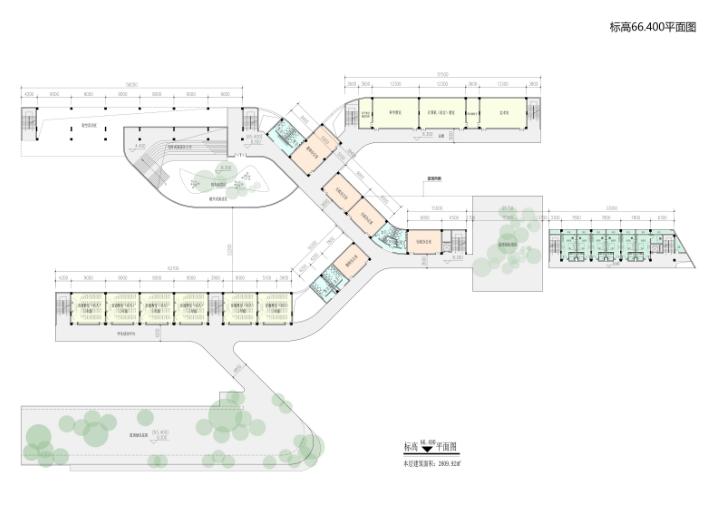 知名地产天湖山色花园36班小学建筑方案2018-平面图