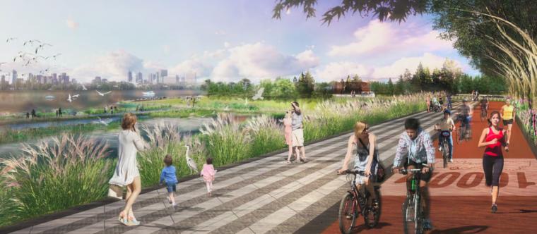 [江西]南昌城市生态湖泊公园景观设计方案-滨湖示范区效果图2