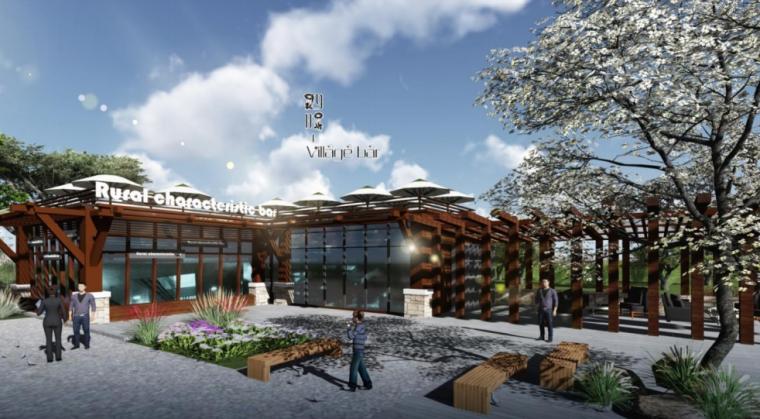 [河北]四时田园休闲康养小镇景观概念规划-啤酒花园