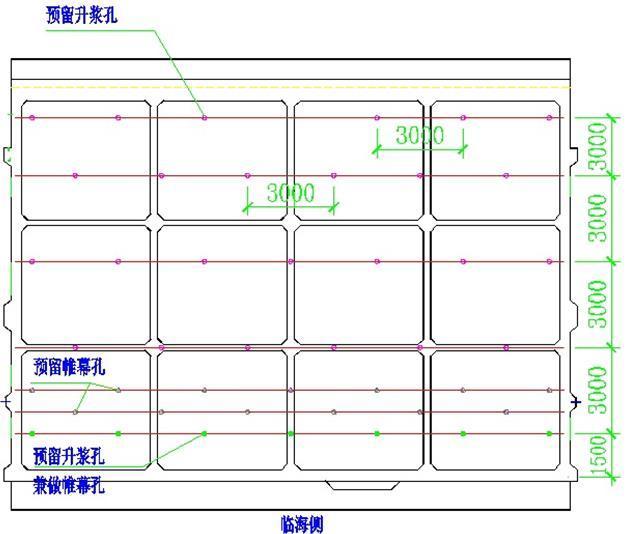 船坞工程止水施工工法-升浆孔布置图