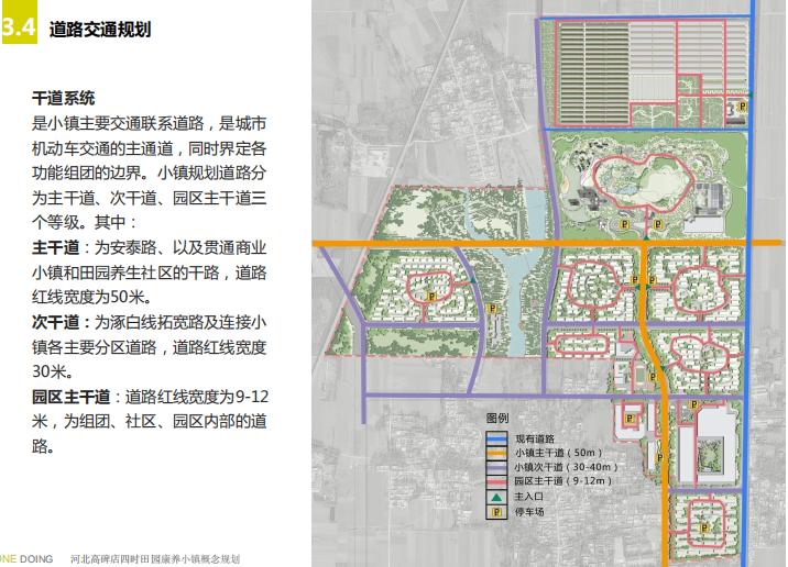 [河北]四时田园休闲康养小镇景观概念规划-道路交通规划