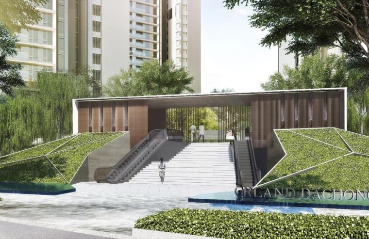 现代风格顶级豪宅景观设计方案+CAD总平图-01 效果图