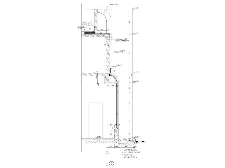 [山东]钢桁架_钢框架结构门卫室全套图2017-墙身大样图