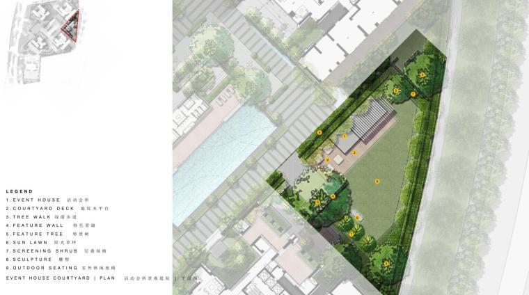 现代风格顶级豪宅景观设计方案+CAD总平图-活 动 会 所 景 观 庭 院