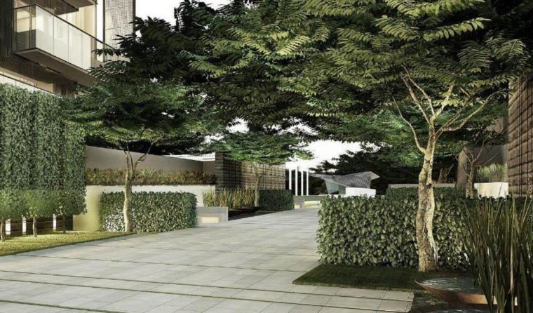 现代风格顶级豪宅景观设计方案+CAD总平图-效果图3