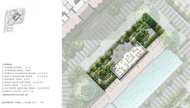 现代风格顶级豪宅景观设计方案+CAD总平图-泳池平面图