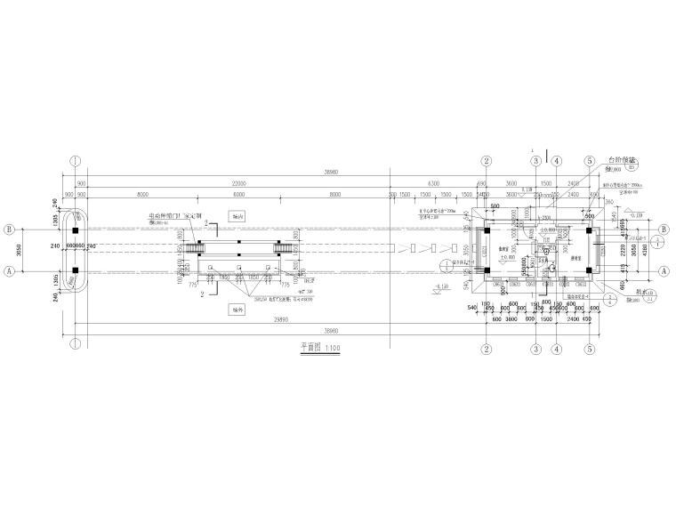 [山东]钢桁架_钢框架结构门卫室全套图2017-建筑平面图