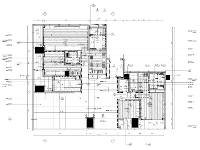 [深圳]华润261㎡现代三居公寓装修施工图-样板间地面铺装图