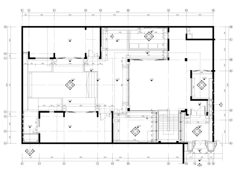 [三亚]海棠之星一层别墅建筑施工图+SU模型-一层平面图