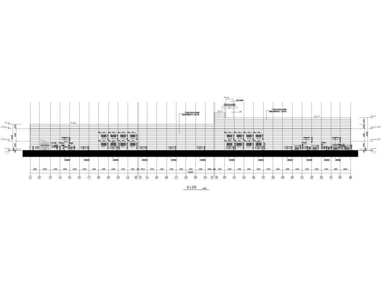 [山东]3层钢框架结构工业厂房全套图纸2017-南立面图