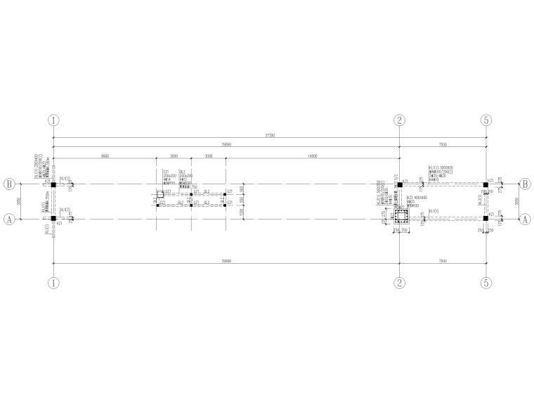 [山东]钢桁架_钢框架结构门卫室全套图2017-梁柱平法施工图
