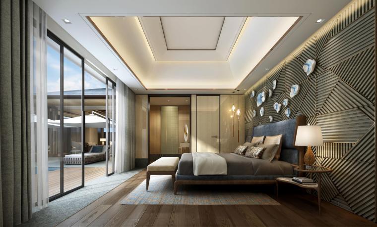 [三亚]海棠之星一层别墅建筑施工图+SU模型-0011