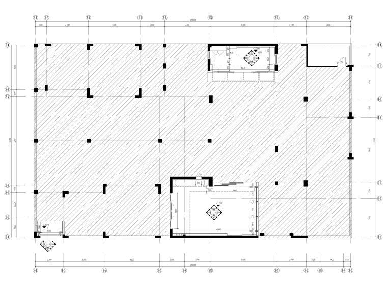 [三亚]海棠之星一层别墅建筑施工图+SU模型-地下一层平面图