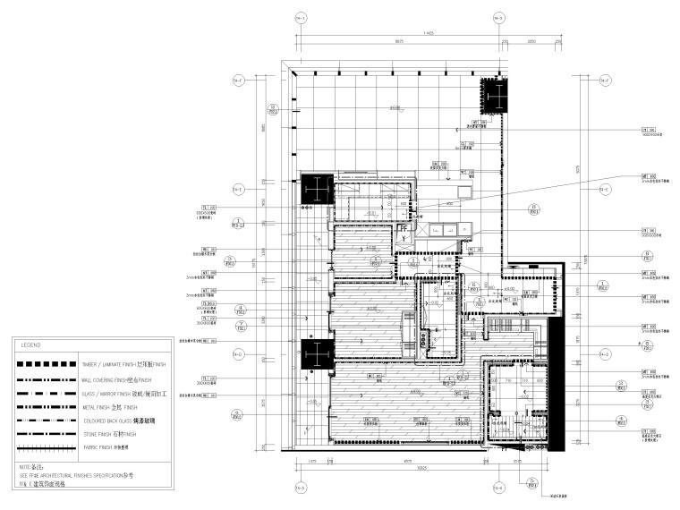 [深圳]华润63㎡现代公寓样板间装修施工图-样板间地面铺装图