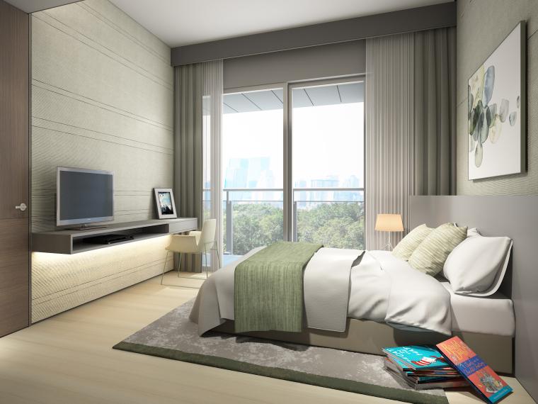 [深圳]华润63㎡现代公寓样板间装修施工图-卧室