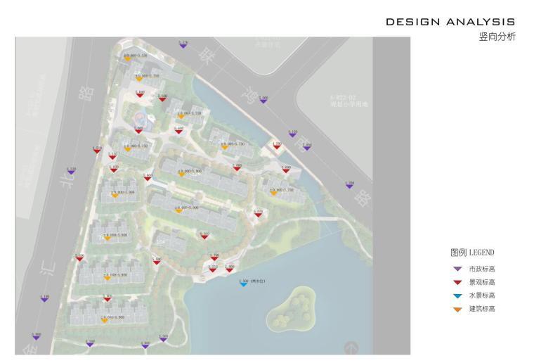 [浙江]杭州鹿栖蝶谷现代风住宅区概念设计-竖向分析