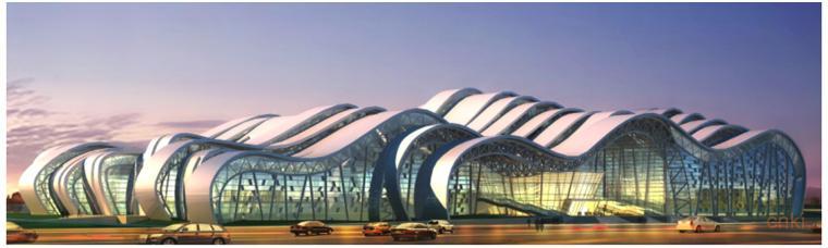 郴州市国际会展中心主体结构设计关键研究-郴州市国际会展中心建筑效果图