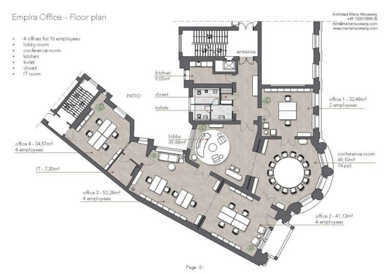 柏林玛丽亚Murawsky办公室平面图