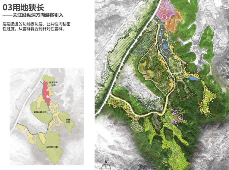 江西明月山月圆缘景区文旅景观规划设计报奖-用地狭长