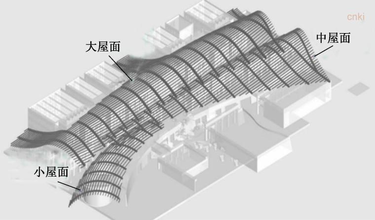 大跨度曲面木屋盖风荷载特性的风洞试验研究-大跨度曲面木屋盖空间效果图