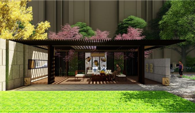 [天津]新古典轻生活主题社区景观方案设计-效果图4