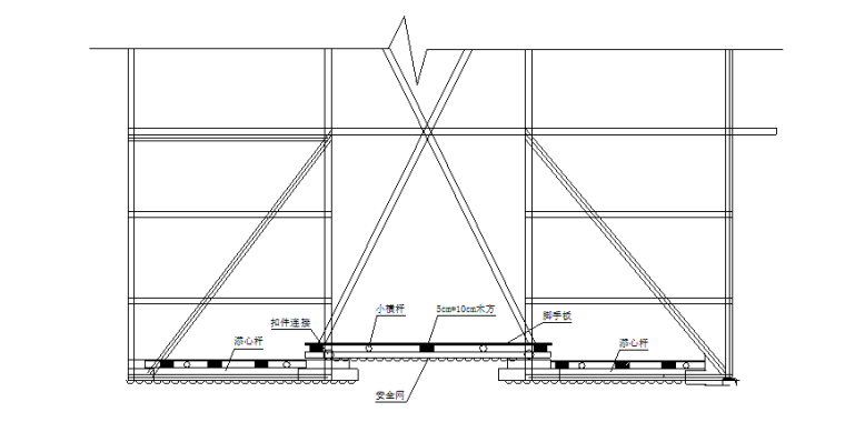 超高层附着式升降脚手架安全专项施工方案-06 塔吊附着处防护