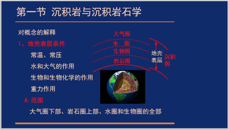 沉积岩与沉积相1.1绪论讲义PPT-地壳表层条件