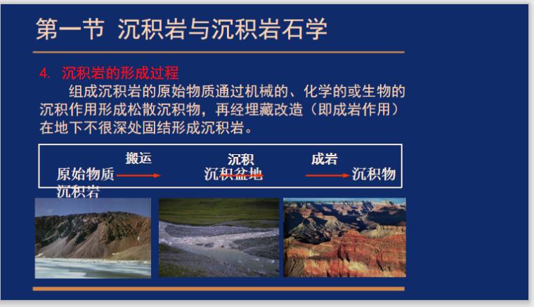 沉积岩与沉积相1.1绪论讲义PPT-沉积岩的形成过程