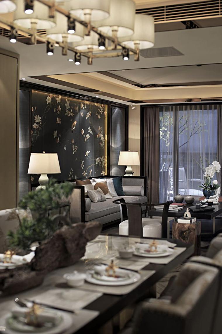 [深圳]190㎡现代三居家装样板房设计施工图-20160324170178297829