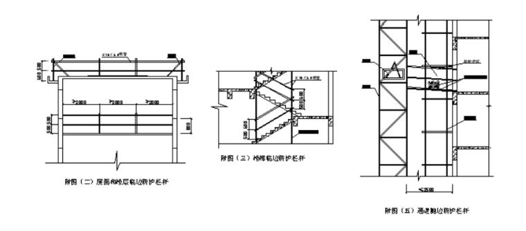 32层框剪结构住宅楼脚手架专项施工方案-03 室内楼层(屋面)、楼梯、洞口及通道的临边防护详附图